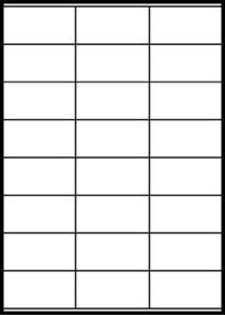 Etikety bílé  70 x 36 mm (100 listů á 24 etiket) IG