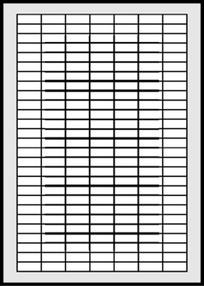 Etikety bílé  25,4 x 10 mm (100 listů á 189 etiket) R0ECO