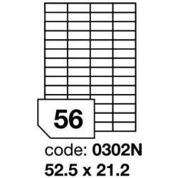Etikety bílé  52,5 x 21,2 mm (100 listů á 56 etiket) R0100