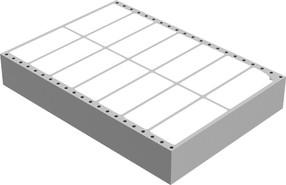 Etikety tabelační 100 x 36 mm dvouřadé (8000 ks)