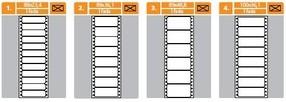 Etikety tabelační 89 x 36 mm jednořadé (4000 ks)