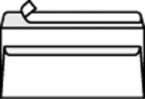Obálka DL samolepící s krycí páskou (1000ks) bílá
