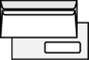 Obálka DL s oknem samolepící (50ks) bílá