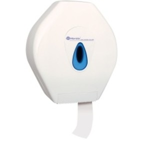 Zásobník na toal.pap., 2 x prům.10cm, plast.bílý, zámek, PT6T