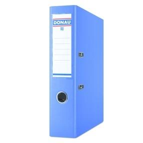 Pořadač pákový Donau PP/karton modrý světle klasik 75mm