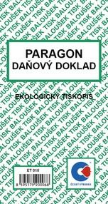 Paragon / daň.doklad, 80x150mm, 50 listů, BAL ET010
