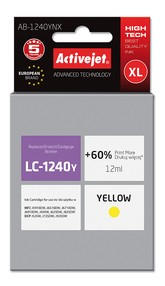 Cartridge Brother LC-1240Y/LC-1220Y žlutá (12 ml) ActiveJet AB-1240YNX