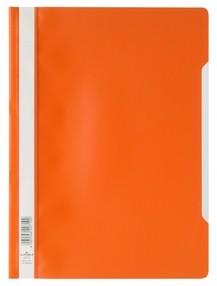 Rychlovazač A4 oranžový, průhl.př.strana