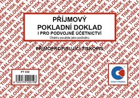 NCR Příjmový pokladní doklad A6, 50 listů, PDÚ, BAL PT030