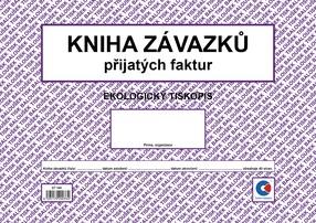 Kniha závazků (došlých/přijatých faktur), A4, 40 stran, BAL ET340