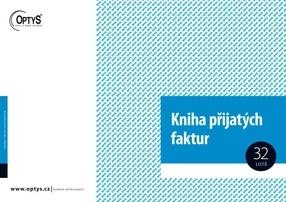 Kniha faktur přijatých (a závazků), A4, 32 listů, OP9