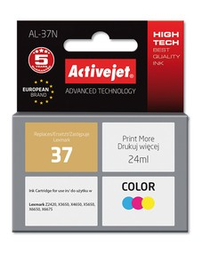 Cartridge Lexmark 18C2180E (24 ml.) barevná ActiveJet New 100%  (AL-37N)