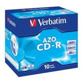 CD-R 700MB Verbatim DLP 52x jewel box, ks