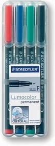 Popisovač Staedtler Lumocolor 318/4, sada 4 barev