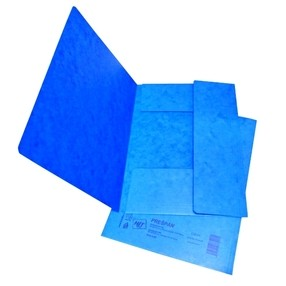 Mapa odkládací tříklopá A4 modrá PREŠPÁN