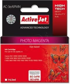 Cartridge Canon BCI-6PM/BCI-3ePM photo magenta (14,5ml) ActiveJet AC-3e/6PMN DOPRODEJ