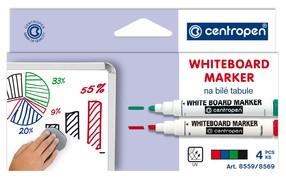 Značkovač Centropen 8559/4 stíratelný, sada 4 barev