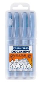Popisovač Centropen 2631/4 linery 0,1-0,7mm sada 4 ks černý