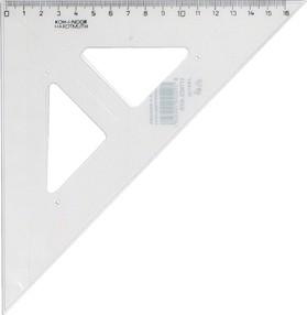 Trojúhelník pravoúhlý s ryskou, transparentní