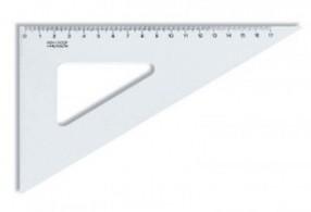 Trojúhelník 60° x 170 mm transparentní