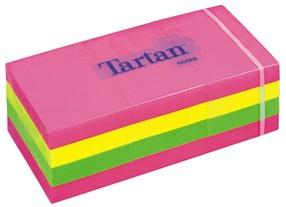 Bloček samolepící   38x 51mm, 12x100 NEON barev (6x růž., 3x žlutá, 3x zel.), 3M-Tartan