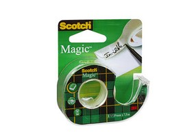 Páska lepící popisovatelná 19mm/7,5m Scotch Magic, s odvíječem, 3M