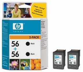 Cartridge HP C6656A černá č.56 (19ml*2 Double Pack) C9502AE orig.