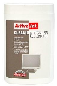 Ubrousky čistící LCD,TFT v dóze (100ks), ActiveJet, AOC-302