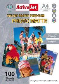 Fotopapír ActiveJet 125g/m2 A4/100 listů Premium Photo Matte AP4-125M100