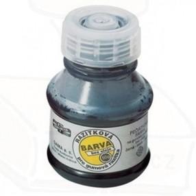 Razítková barva černá bez oleje, pro  gumová razítka, 50g