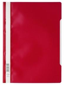 Rychlovazač A4 červený, průhl.př.strana