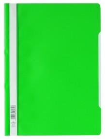 Rychlovazač A4 zelený, průhl.př.strana