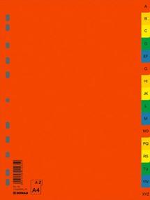 Roztřiďovač PP A4  barevný A-Z