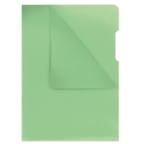 """Obal zakládací """"L"""" A4 120mic bar.zelený krupička bal.100ks"""