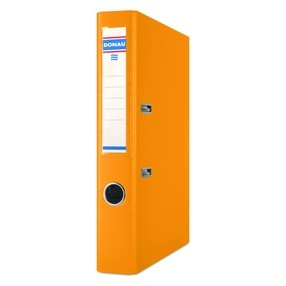 Pořadač pákový Donau PP/karton oranžový 50mm