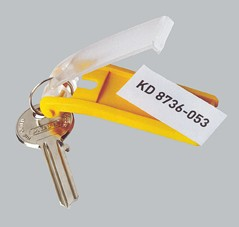 Klíčenka KEY CLIP žlutá  bal.6ks