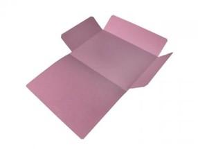 Mapa odkládací tříklopá A4 růžová CLASSIC bal.50ks