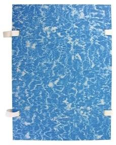 Deska s tkanicí A4 EKO mramor modrá