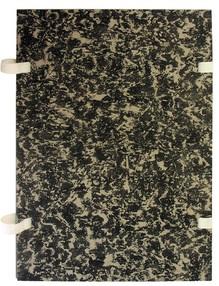 Deska s tkanicí A4 EKO mramor černá
