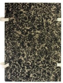 Deska s tkanicí A4 mramor černá