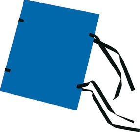 Deska s tkanicí A4 jednobar.modrá
