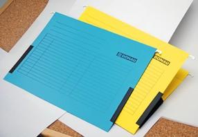 Složka závěsná typu Pendaflex+postranice, žlutá bal.25ks