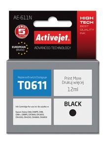 Cartridge EPSON T0611 černá (13 ml) ActiveJet AE-611N