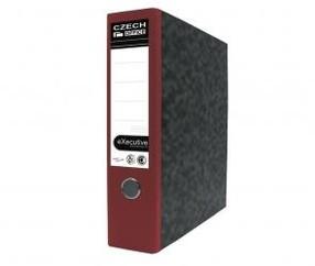 Pořadač pákový karton červený 75mm