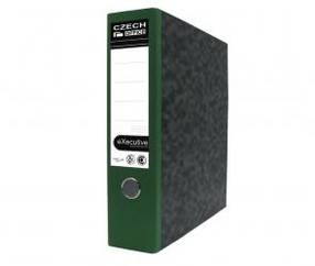Pořadač pákový karton zelený 75mm