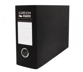 Pořadač pákový karton-A5 75mm černý, na šířku