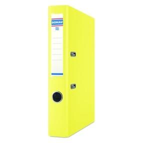 Pořadač pákový Donau PP/karton žlutý 50mm
