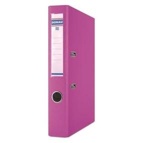 Pořadač pákový Donau PP/karton růžový 50mm