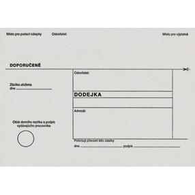 DODEJKA bez pruhu (bílá), B6 (125x176mm) REC samopr.odtrh.klopa, vlhčící, 1142140