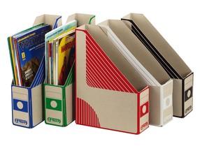 Document box EMBA A4 75mm červený